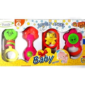 Plutofit  Non Toxic Rattle Set (4 pcs) For Infants And Toddlers
