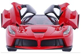 Plutofit Remote Controlled Rechargeable Ferrari Car with Opening Doors 1:16 (Red)