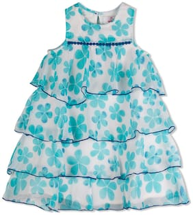 Young Birds Baby girl Blended Solid Princess frock - Multi