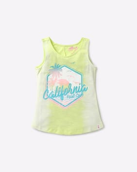 Point Cove By Reliance Trends Girl Green T-Shirt