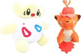 Pokemon GO Pokeball Set Of 2 pcs. Togepi And Vulpix 10-12 cms. Soft Toy Plush Stuffed Toys