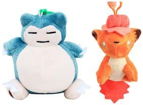Pokemon GO Pokeball Set Of 2 pcs. Vulpix And Snorlex 12 Cms. Soft Toy Plush Stuffed Toys