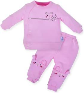 POKORY Unisex Cotton Printed Body suit - Pink