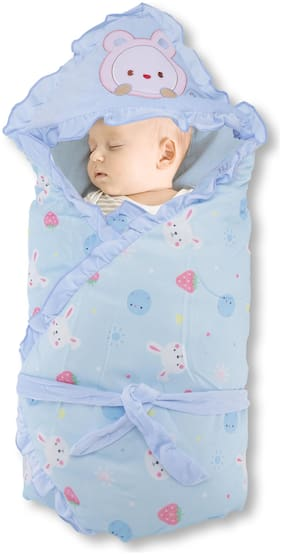 Pokory,Quilt type Wrapper for New Born Infant Baby Girls and Boys Luxury Soft Wrap for Warm Cover Winter Blanket Cum Quilt Sleeping Bag Wrap for 0 to 12 Months
