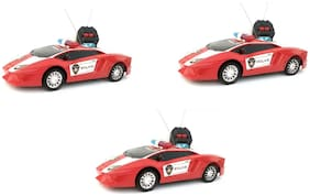Police Remote Control Car For Kids Pack Of 3