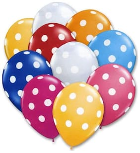 Polka Dot Balloons for Birthday, Parties (20 pcs) - Assorted Colours