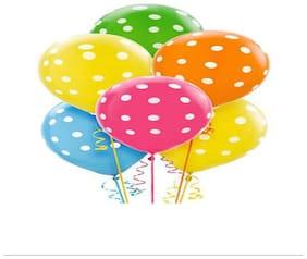 Polka Dot Printed Latex Balloon Pack Of 30