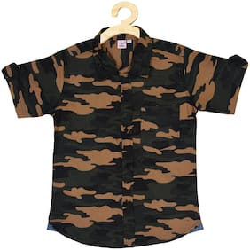 POMY & JINNY Cotton Camouflage Multi Color Casual Shirt For Boy