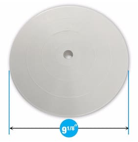 """Pool Debris Canister Deck Lid 9 1/8"""" Inch Skimmer Valve Lid White Replacement"""