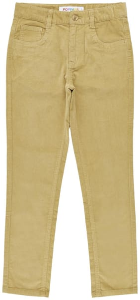 Poppers by Pantaloons Boy Solid Trousers - Beige