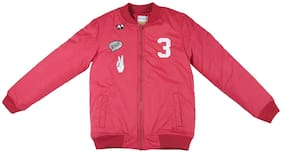 Poppers by Pantaloons Girl Polyester Solid Winter jacket - Red