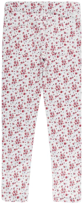 Poppers by Pantaloons Girl Cotton Trousers - Cream