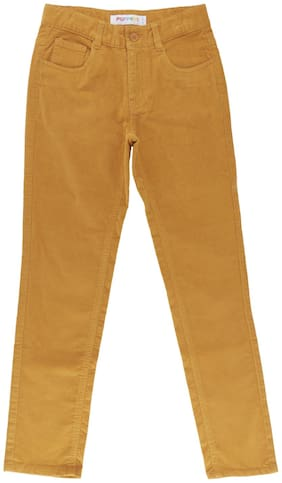 Poppers by Pantaloons Boy Solid Trousers - Brown