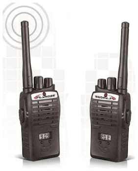 Portable Walkie Talkie (Set of 2) with 9V Battery for 3+ Kids