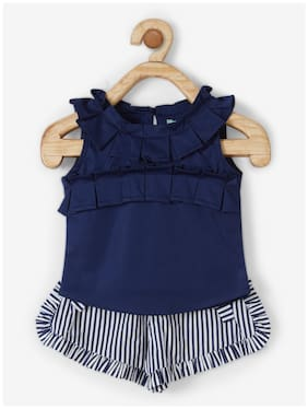 Powderfly Baby girl Top & bottom set - Blue