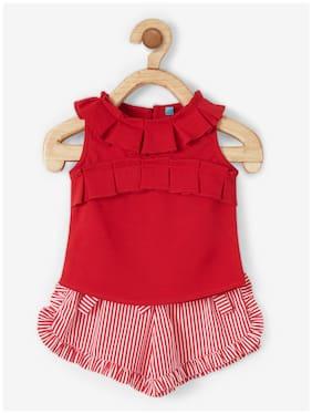 Powderfly Baby girl Top & bottom set - Red