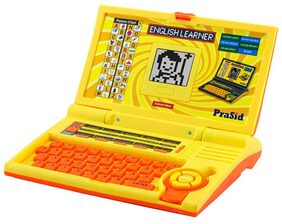 PraSid Kids English Learner Computer Toy Educational Laptop LemonOrange