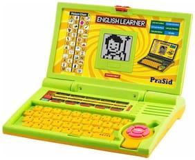 PraSid Kids English Learner Computer Toy Educational Laptop GreenYellow