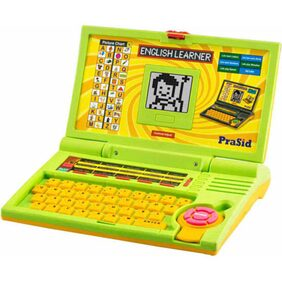 PraSid Kids English Learner Computer Toy Educational Laptop GreenYellow