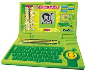 PraSid Kids English Learner Computer Toy Educational Laptop Green