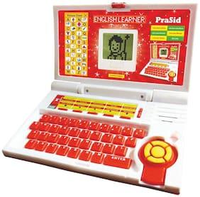PraSid Kids English Learner Computer Toy Educational Laptop Red
