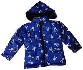 Pratishtha Creations Unisex Polyester Cartoon print Winter jacket - Blue
