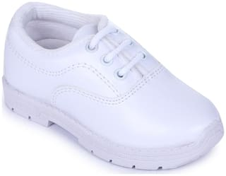 Liberty Prefect White School Shoes for boys