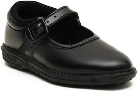 Liberty Black School shoes For Girls