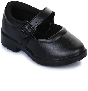 Liberty Black Boys School Shoes