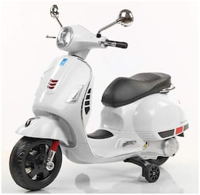 Premium Goods Pro Vespa Rechargeable Battery Operated Ride-on Scooter (White)