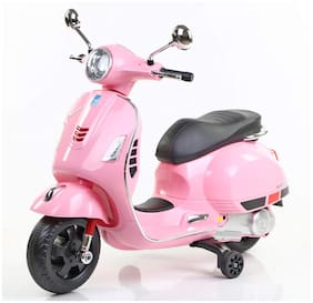 Premium Goods Pro Vespa Rechargeable Battery Operated Ride-on Scooter (Pink)