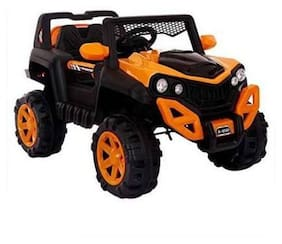 Premium Goods Pro Electric Rechargeable Orange Ride-on car - 4-6 years , Bis certified