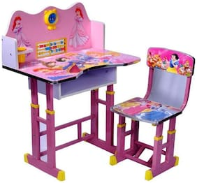 Princess Barbie Kids Learning Education New Wooden study table and chair for kids/Best for study