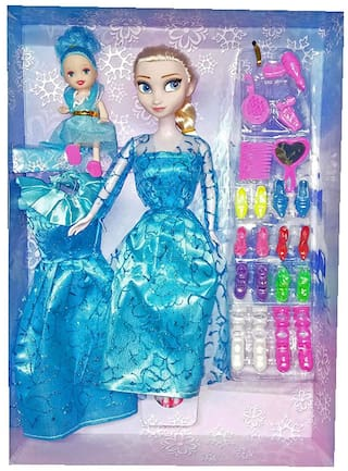 Princess Elsa Fashion Doll With baby doll & accessories for girls  (Multicolor)