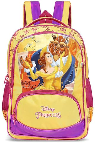 Priority Disney Beauty and The Beast 32 Liter Yellow Kid's School Bag (Alexa 001).