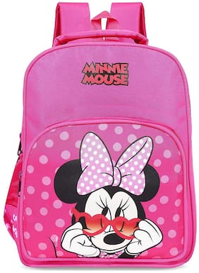 Priority Disney Minnie Mouse 32 Liter Pink Kid's School Bag (Ivory 002)