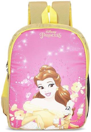 Priority Disney Belle 32 Liter Yellow & Pink Kid's School Bag (Fairy 007)