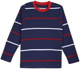 Bodycare Proteens Boy Cotton Striped T-shirt - Blue