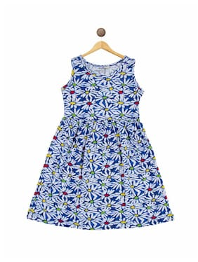 Bodycare Proteens Girl's Cotton Printed Sleeveless Nighty - Multi