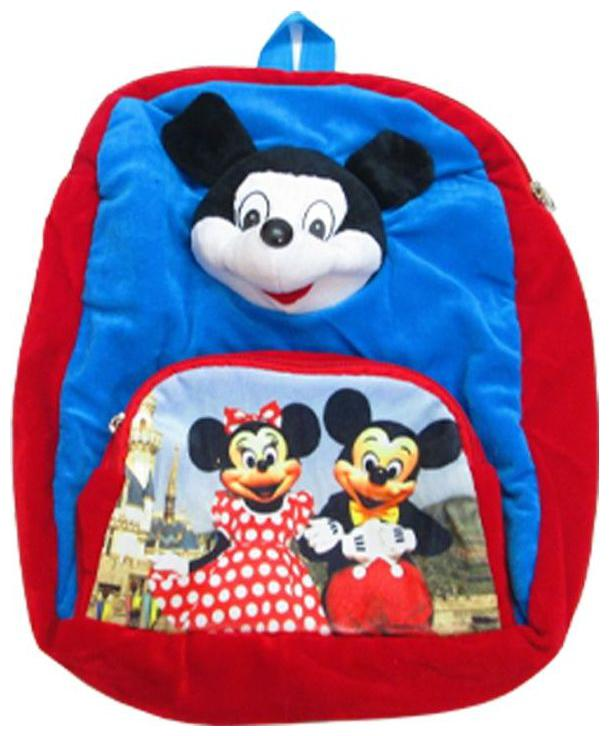 PRP Collections Blue Red 027 Mickey Kids Backpack School Bag