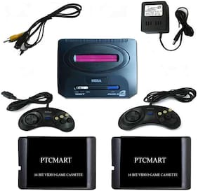 PTCMART  2 cassettes Extra with 16 Bit Sega tv video game