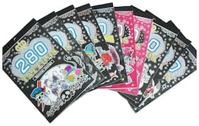 PTCMART 280 Temporary Tattoos - Roses & Butterflies Many More (Pack of 3pcs)