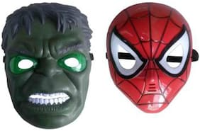 PTCMart Super Avenger Hulk And Spiderman Face Mask For costumes;Party