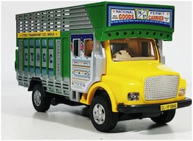 Public Truck CT - 113 - Yellow Miniature Automobile toy (Pull Back Action) Contents may vary from illustrations.