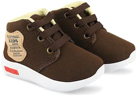 Pucandy Brown Canvas shoes for boys