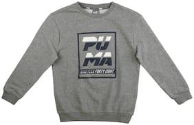 Puma Boy Cotton Printed Sweatshirt - Grey
