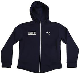 Puma Boy Cotton Printed Winter jacket - Blue