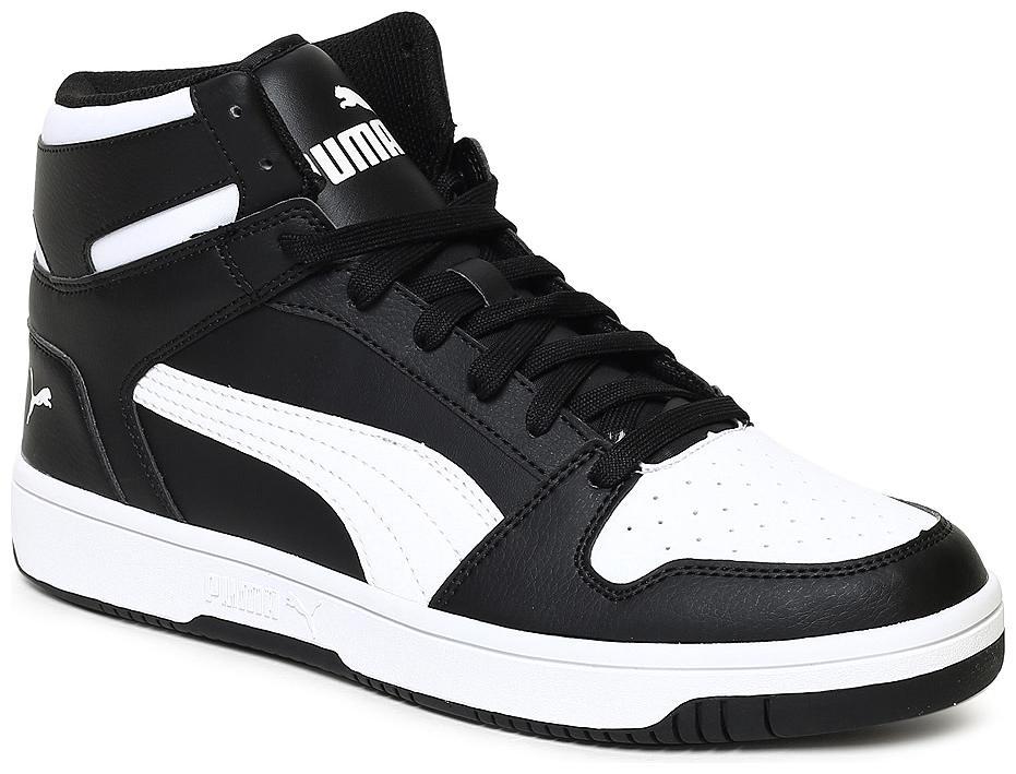 Buy Puma Black Canvas shoes for boys