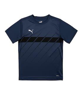 Puma Boy Polyester Printed T-shirt - Blue