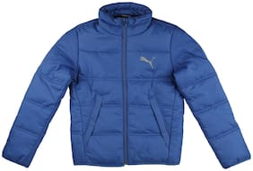 Puma Boy Cotton Solid Winter jacket - Blue